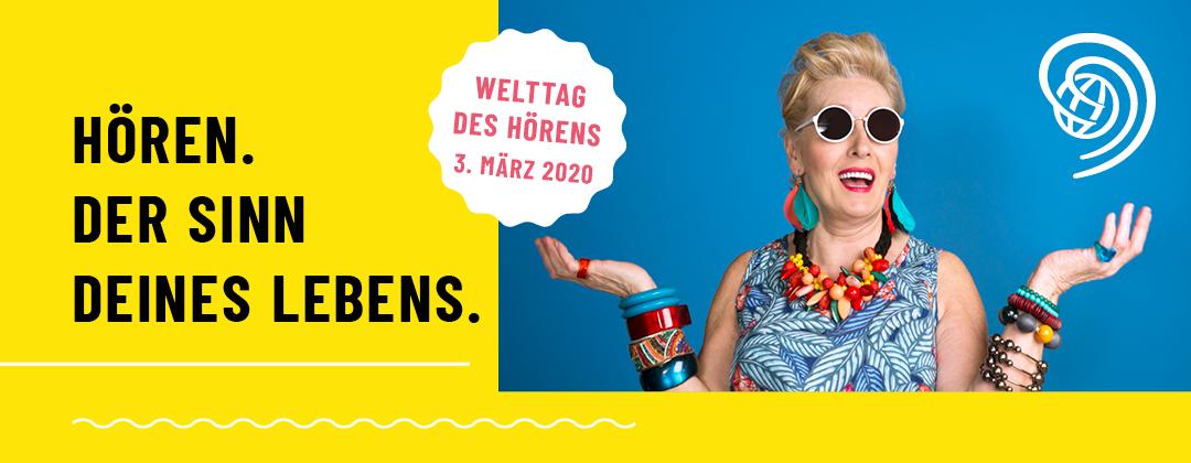 Welttag des Hörens 2020 Kampagnenmotiv Header